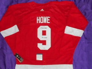 Gordie Howe SIGNED Autographed Detroit Red Wings Autographed NHL Jersey COA