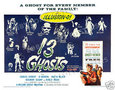 13 GHOSTS LOBBY CARD POSTER HS-B 1960 CHARLES HERBERT JO MORROW WILLIAM CASTLE