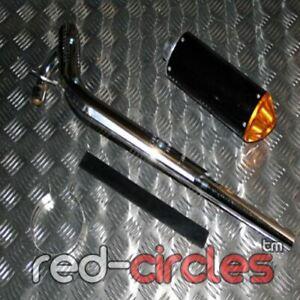 GOLD PIT BIKE PERFORMANCE CNC EXHAUST PIPE SYSTEM 90cc 110cc 125cc PITBIKE