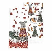 Sweater Weather Dog Kitchen Towel 2-pack