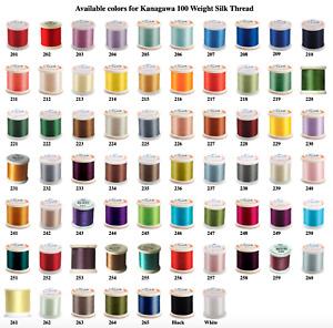 YLI Silk Thread 100wt on 200 meter snap spools | Choose Colors
