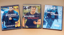Bourne trilogy Identity Supremacy Ultimatum PG-13 action movies lot DVDs M Damon
