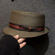 Vintage Cavanaugh Harry Suffrin Straw Fedora Hat 7