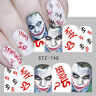 Nail Art Water Decals Stickers Transfers Halloween Vampire Blood Devil STZ748