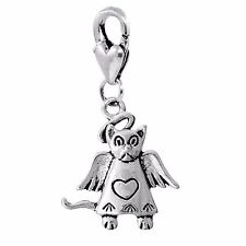 Angel Cat Loss of Pet Remembrance Lobster Claw Clip On Dangle Charm for Bracelet