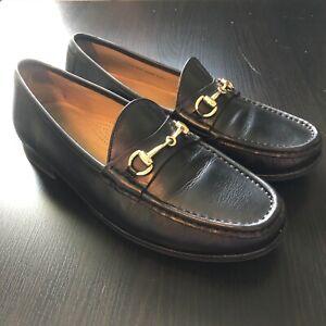Cole Haan Ascot II Black & Gold Horse Bit Loafers 8.5 D/M Fits 7.5-8