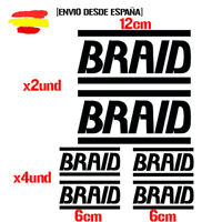 braid llantas kit de 6 Tuning ADHESIVO PEGATINA STICKER AUTOCOLLANT ADESIVI