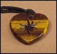 CARVED magnificent  Gemstone  SPIDER STONE  NECKLACE   # NEK085
