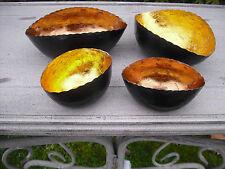 2er Metall Teelicht schalen oval Kupfer Teelichthalter Tischdekoration Advent