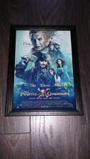 "PIRATES OF THE CARIBBEAN 5  PP SIGNED FRAMED  A4 12X8"" PHOTO POSTER JOHNNY DEPP"