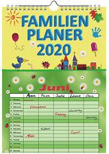 Familienplaner 2020 mit 5 Spalten Familienkalender A4 Terminplaner Wandkalender