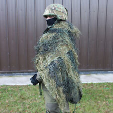 WOODLAND CAMO GHILLIE COVER 1.4M X 1M - Durable - Camouflage - Sack