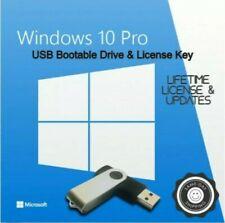 Microsoft Windows 10 Pro Installation USB Flash Drive 32/64 Bit License Key 16gb