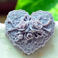 Silicone Soap Candle Mold Soap Making Mould DIY Handmade Soap Molds Heart Rose