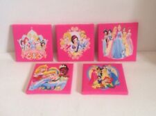 (BATCH 7 ) 5 X Disney Princess Canvas Pictures 6 X 6 Inches