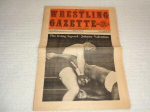 1972 Dallas Wrestling Gazette Newspaper Johnny Valentine Von Erich NWA Rare