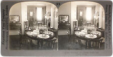 Keystone Stereoview of Domestic Art – A Dining Room from 1910's Education Set #A