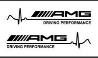 2 Pegatinas Driving performance Mercedes Benz AMG coche vinilo de corte 14 cm