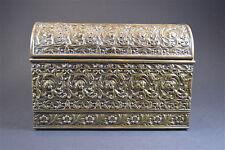 ART nouveau brass TABLE TOP Cassetta delle lettere immobile BARA FIORI STILIZZATE c.1900