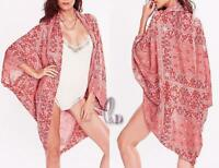 AU SELLER Oversize Cotton Kaftan Cardigan Open Top Beach Kimono Cover UP sw056-1