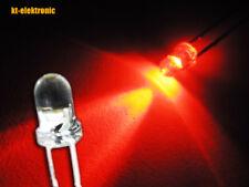 10 Stück LED 3mm rot ultrahell 6000mcd