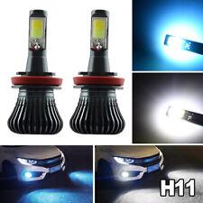 2x H11 H8 LED Fog Light Bulbs Kit 6000K White + 8000K Ice Blue Dual Color 2400LM