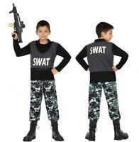 Déguisement Garçon Policier SWAT 5/6 Ans Enfant Cinéma Police film NEUF Pas cher