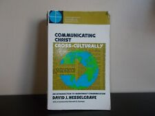 Communicating Christ Cross-Culturally by David J. Hesselgrave 1978 Sale!!!!!!!!!