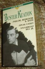 BUSTER KEATON THREE VHS TAPE BOX SET, NEW AND SEALED, RARE, STEAMBOAT BILL JR.