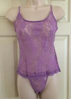 Victoria's Secret Vintage Lilac Purple Lace Camisole & String Bikini Set M NWT!