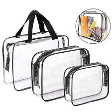 Toiletry Bags 3 in 1 Gift Makeup Bags Cases Plastic Bag for Men&Women, Dust-Free