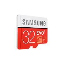 Samsung 32 Go Micro SD carte SDHC EVO + 80MB/s UHS-I Class 10 TF carte mémoire NEUF