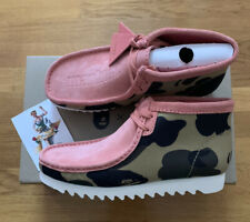 Clarks Originals X A Bathing Ape Pink/Camo Wallabee Boots 26149863 Size 9.5 Mens