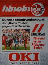 Programm UEFA Cup 1992/93 FC Kaiserslautern - Etar Tarnovo