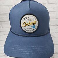 Carhartt Blue Graphic Outdoors Fishing Trucker Snap Back Cap/Hat Adjustable