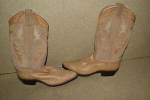 <MA> DAN POST TAN WOMENS COWBOY BOOTS- SIZE 9 (QH41)