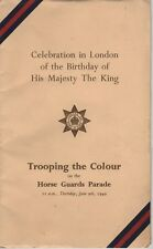 KING GEORGE 6TH TROOPING THE COLOUR BIRTHDAY PRINCESS ELIZABETH 1949