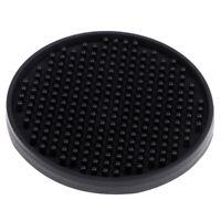 Non-slip Silicone Coasters Drink Coasters Protection Table Decoration Black