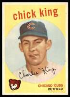 1959 Topps Chick King Chicago Cubs #538