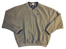 CAT Caterpillar Official Licensed Men's Gray Pullover Windbreaker W/ Pockets; XL