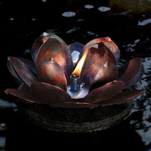Floating Lotus Torch for Landscape Pond