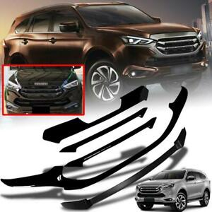 Front Cover Grille Gloss Black Use For All New Isuzu MUX MU-X LS 2021-2022