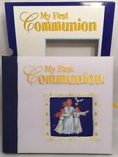 New My First Communion Keepsake Album 830/57 WhiteClothCover W/Slipcase Catholic