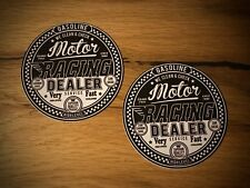 2x ADESIVI RACING MOTO GASOLINE OLIO Sticker Vintage Oldtimer Biker #085