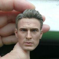 Delicate Painting Hot 1/6 Scale Captain America Chris Evans Head Sculpt