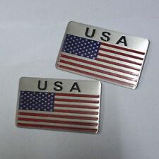 2PCS New Big USA Metal Badge Sticker Emblem Decal Car Motors America Logo suv 3D