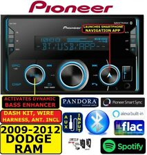 2009-2012 DODGE RAM PIONEER BLUETOOTH USB AUX EQ Double Din Car Radio Stereo PKG