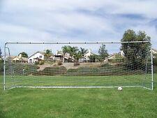 21X 7 Ft. Official Youth Modified Size Steel Soccer Goal. Heavy Duty Frame w/Net