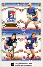 2007 Select NRL Invincible Trading Cards Base Team Set Knights (12)