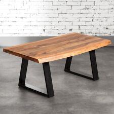 Couchtisch Tisch Massiv Holz 90x60 Akazie Baumkante Freeform 26MM Platte Loft